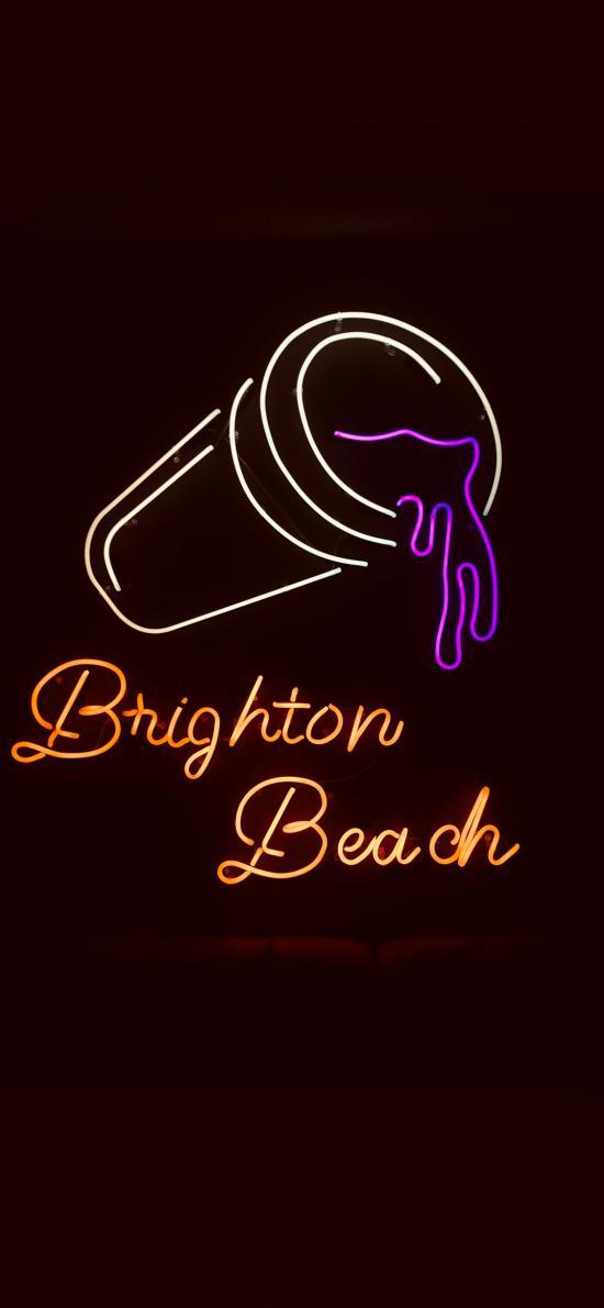 光亮 灯牌 beach 沙滩 酒饮