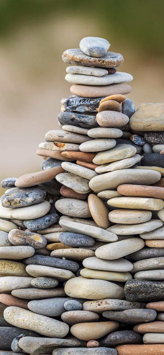 石堆 石块 堆积 鹅卵石 层叠