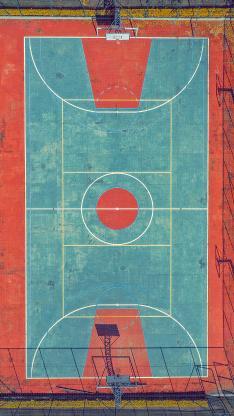 篮球场 运动 俯视 航拍