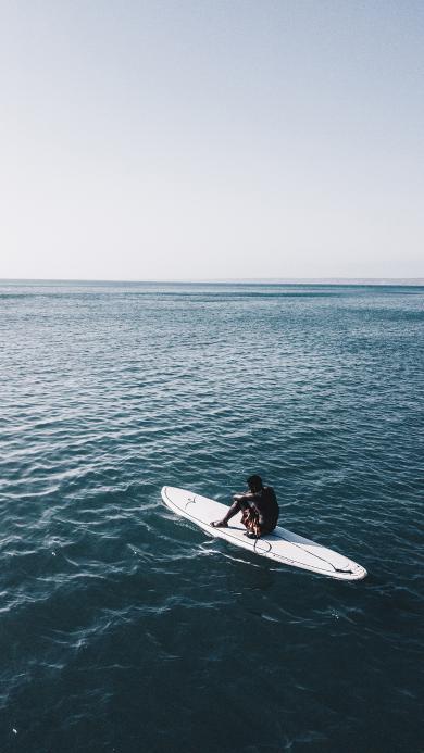 冲浪板 运动 大海 海面 男子