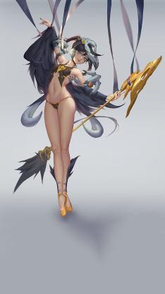 游戏 插画 女角 权杖