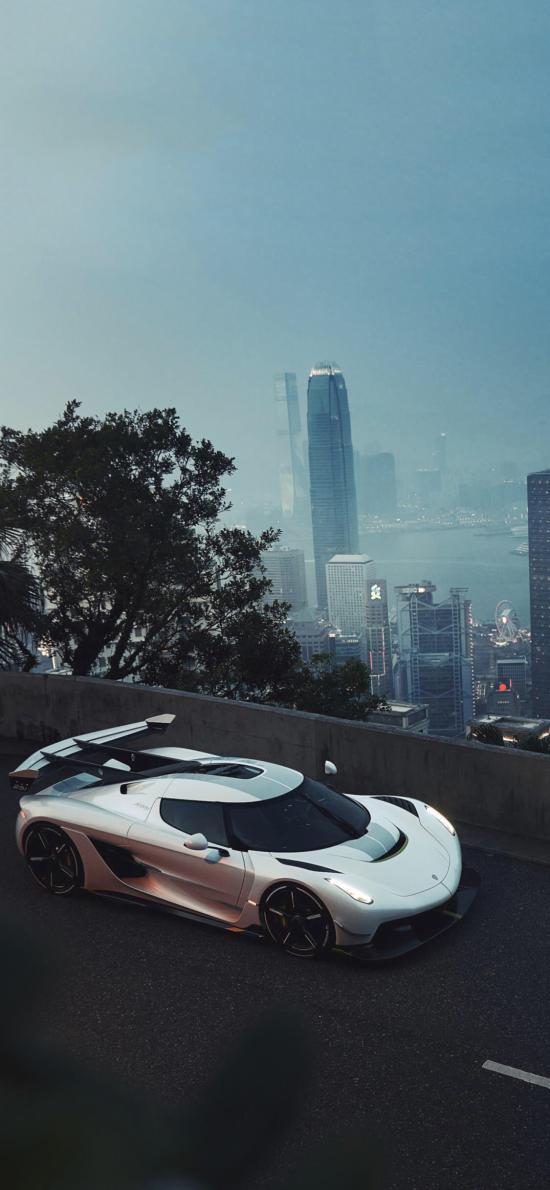 超级跑车 炫酷 豪车 赛车 城市 道路