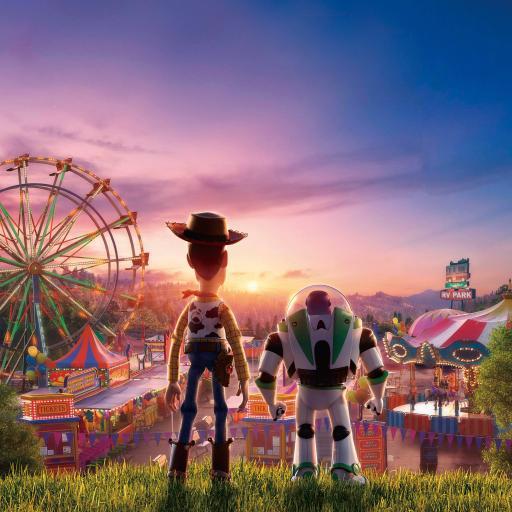 玩具总动员4 动画 欧美 胡迪 巴斯光年 海报 背影