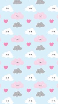 卡通 平铺 云朵 色彩