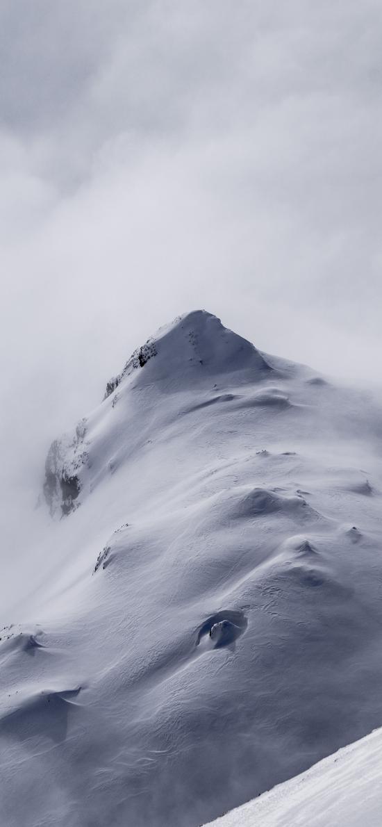 雪山 白色 山峰 寒冷