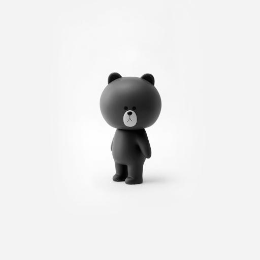 玩具 黑白 布朗熊 linefriends