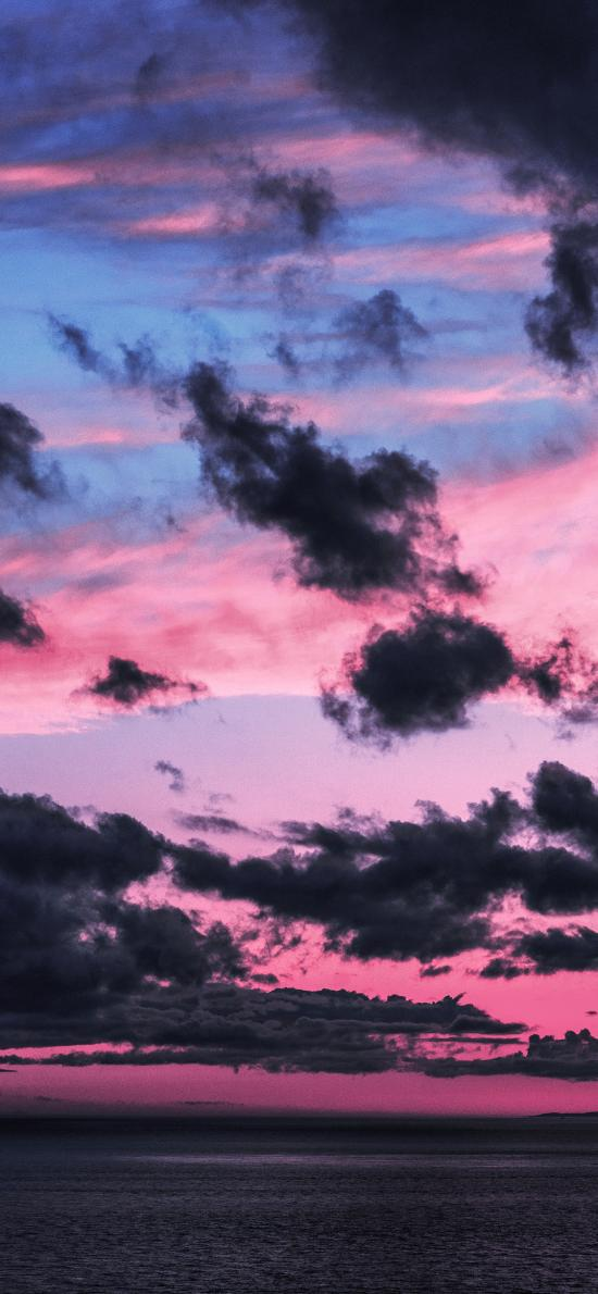 天空 乌云 红云 唯美