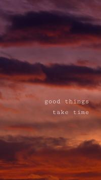 好事多磨 good things take time 天空 英语 英文