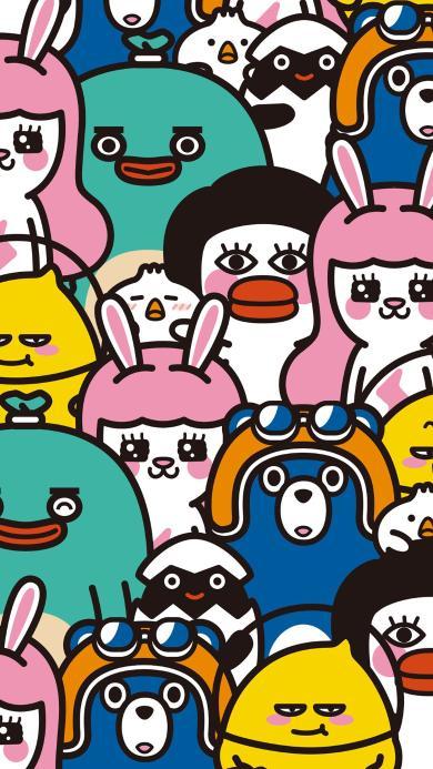 合照 卡通 兔子 可爱