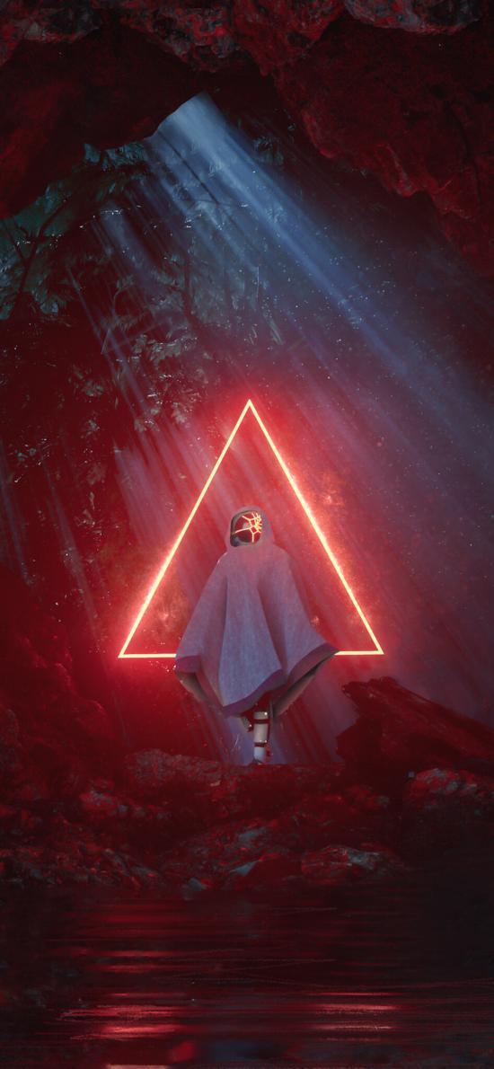 科幻 几何 三角形 机器