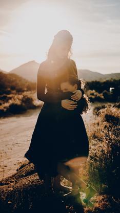 欧美 母女 亲情 写真 亲子装 阳光