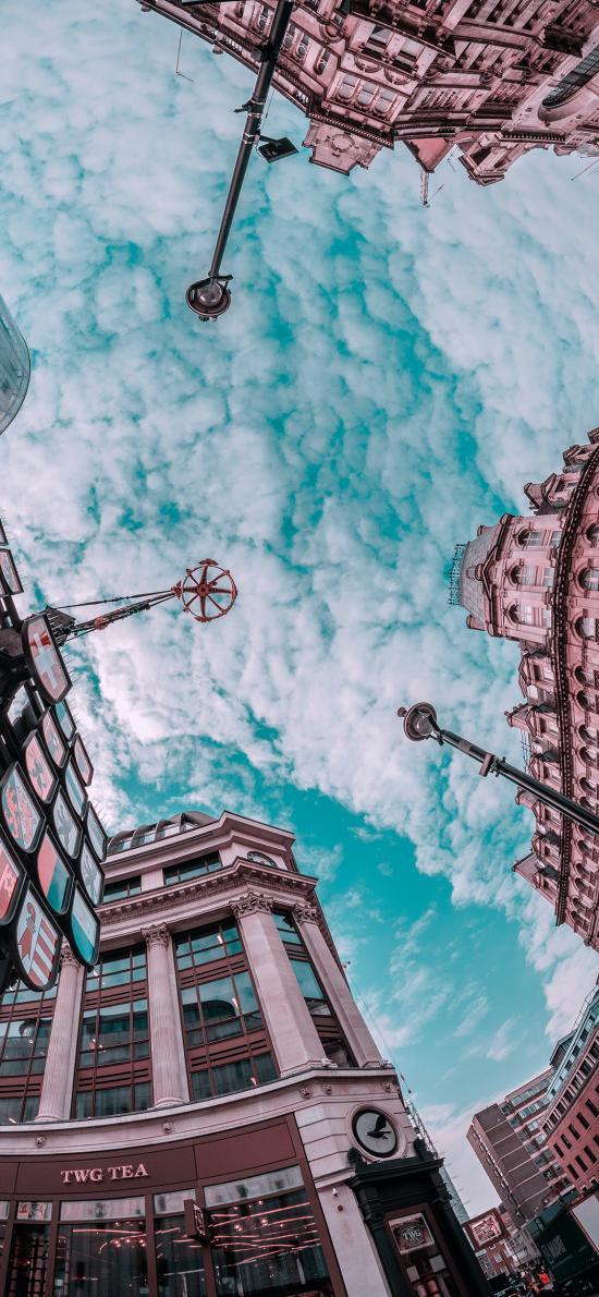 蓝天白云 城市 建筑 欧式