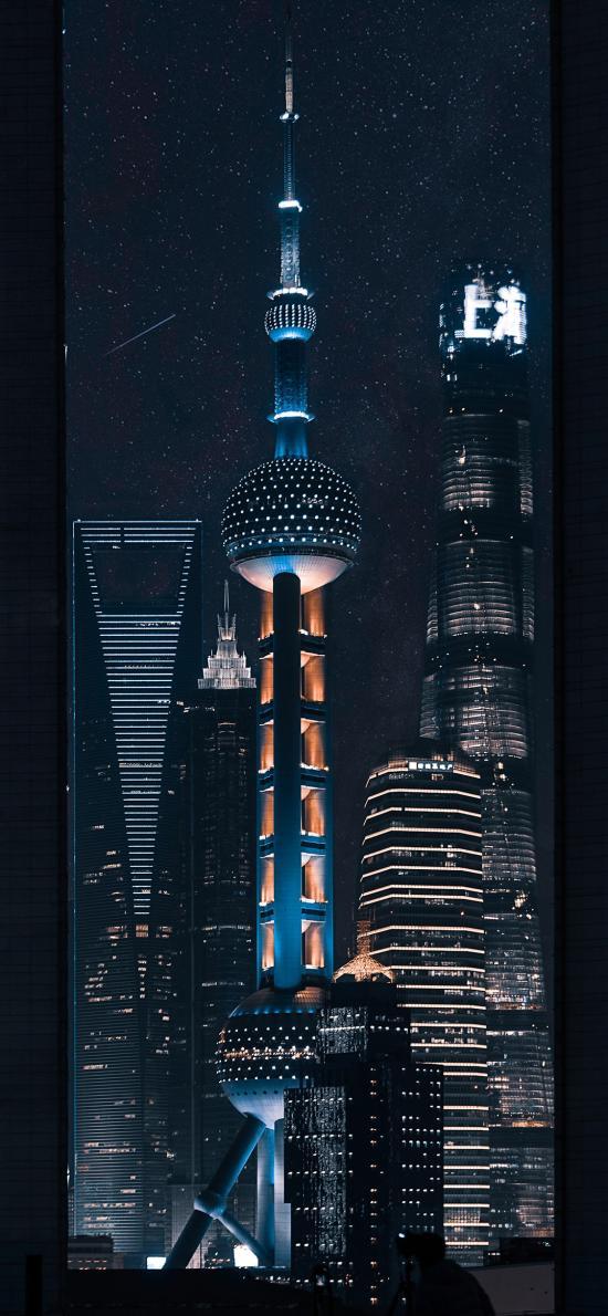 东方之珠 上海 夜景 城市 建筑