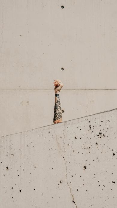 手臂 刺青 纹身 墙壁 遮挡