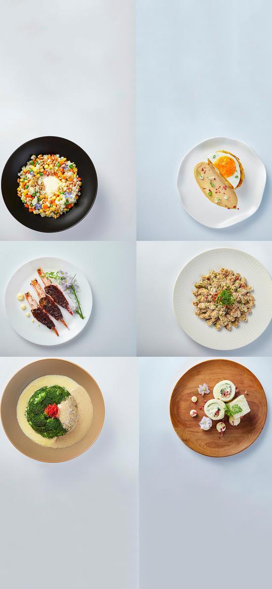 餐点 菜式 西蓝花 虾 花甲肉 面包卷