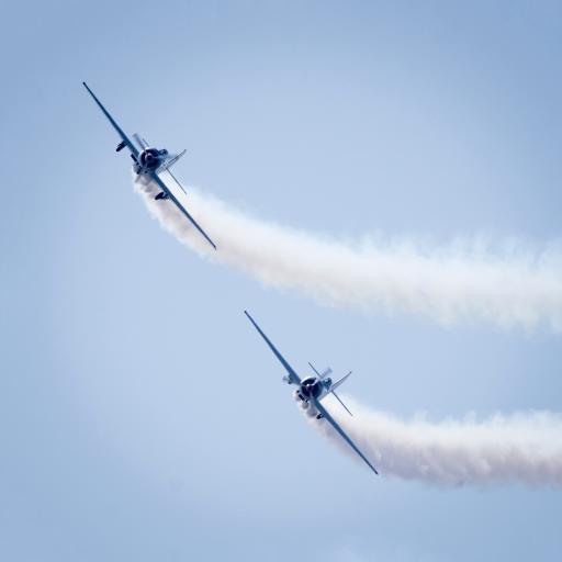 飞机 飞行 烟雾 航空 蓝色