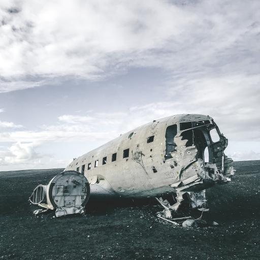 飞机 残骸 破损 航空