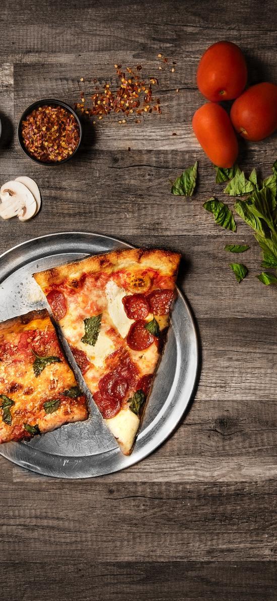 披萨 食材 罗勒 白菇 材料