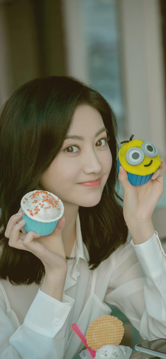 景甜 演员 明星 艺人 表情 纸杯蛋糕