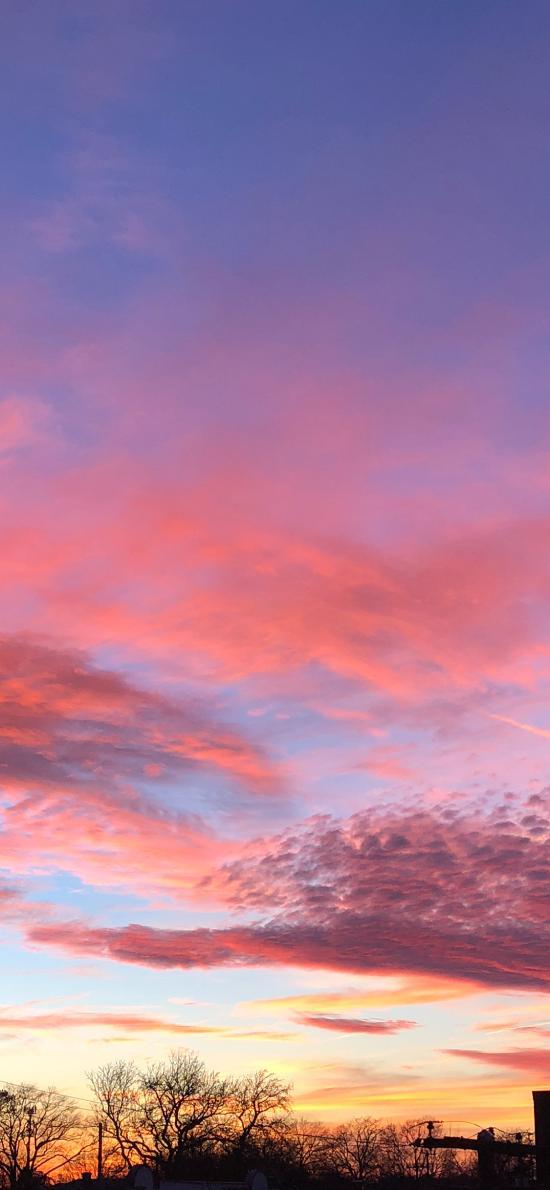 天空 唯美 渐变 夕阳