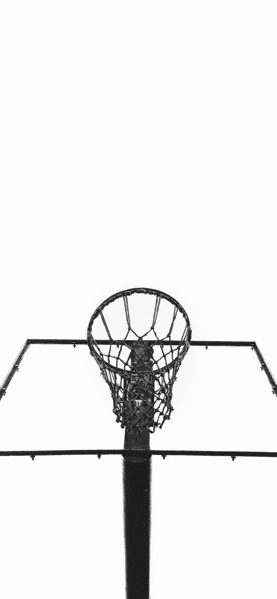 篮球架 球框 运动 网 黑白
