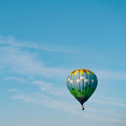 热气球 飞行 天空 蓝色