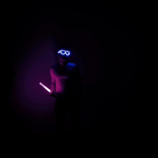 男孩 写真 发光 眼镜 荧光棒