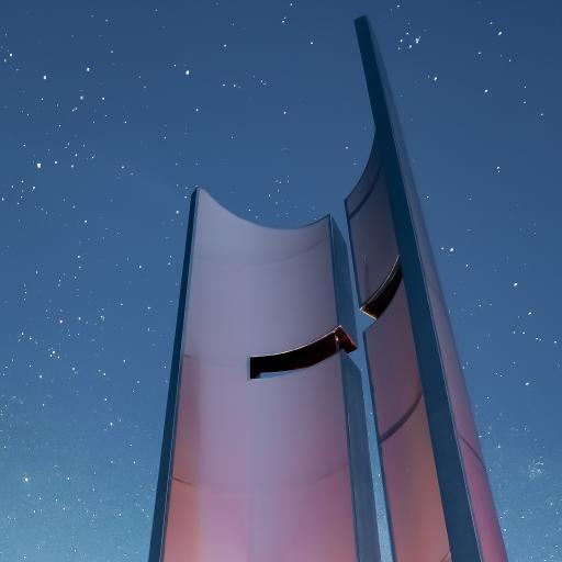 建筑 夜空 星星 璀璨