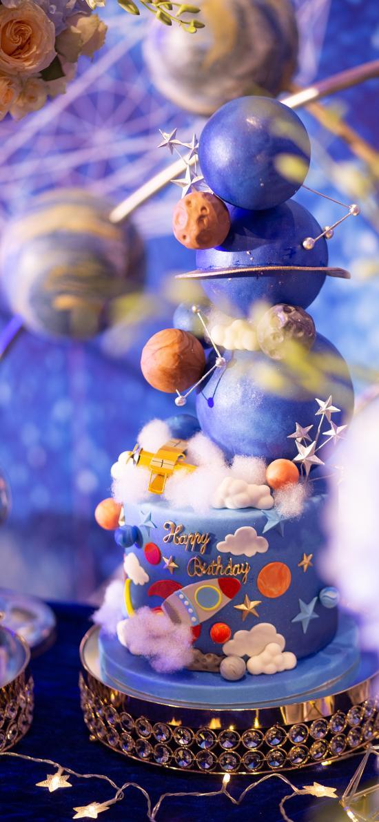 蛋糕 星球 食材 装饰