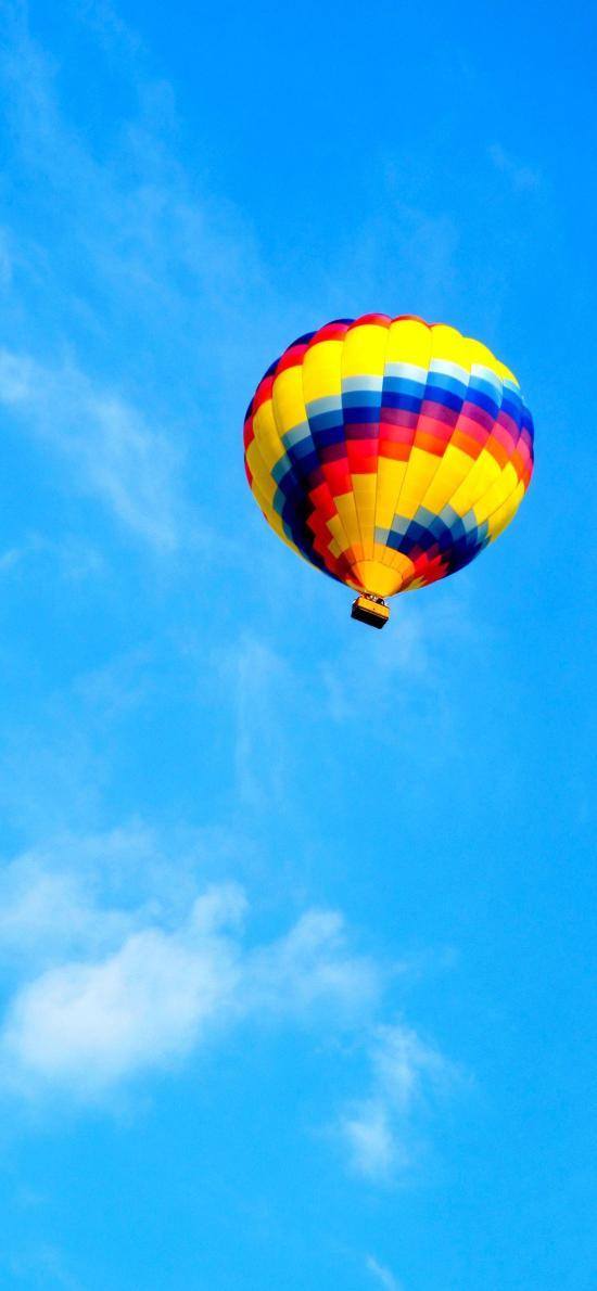 热气球 飞行 蓝色 天空