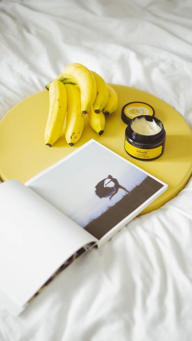 静物 香蕉 杂志 油膏