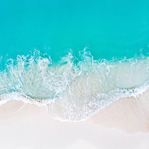 海浪 大海 沙滩 俯拍