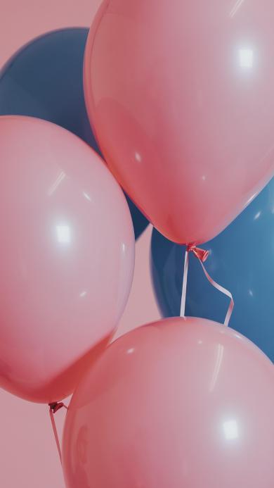 气球 粉色 线 装饰