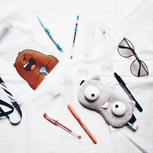 静物 卡套眼罩 笔 文具