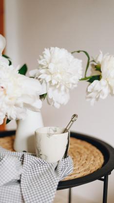 静物 鲜花 杯子 花束