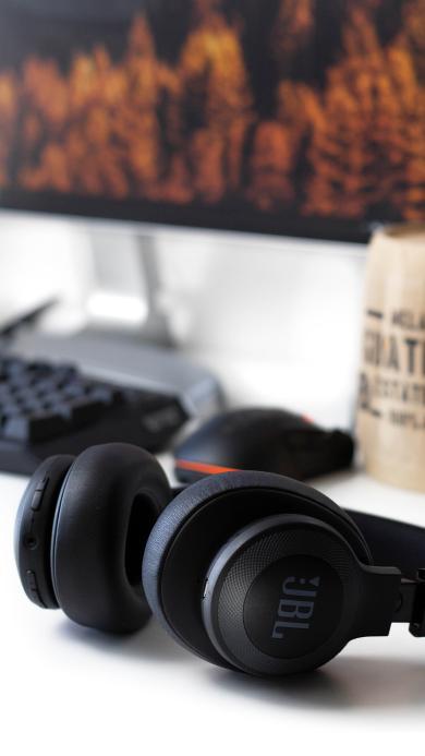 耳机 静物 耳罩式 电脑