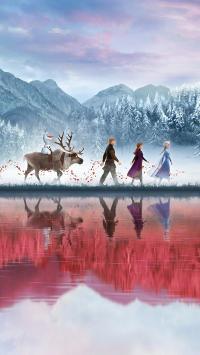冰雪奇缘2 电影 海报 动画 欧美 Elsa女王 安娜公主 鹿