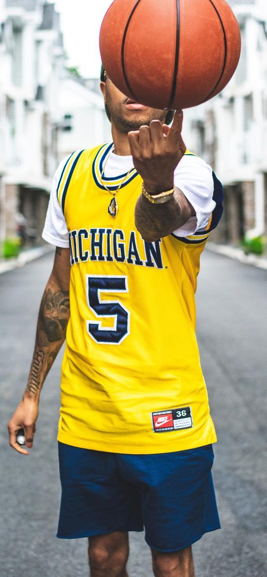 篮球 运动 男子 纹身 球服
