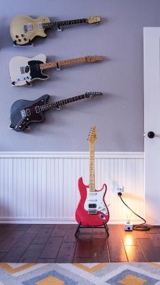 静物 乐器 电吉他 弹奏