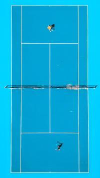网球 球场 运动 蓝色 俯视