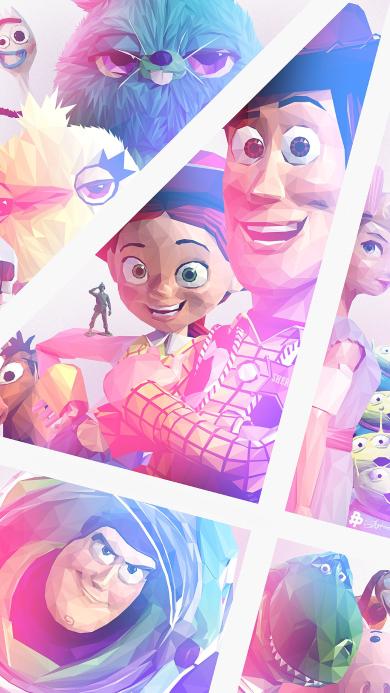 玩具总动员4 动画 欧美 海报 巴斯光年 胡迪