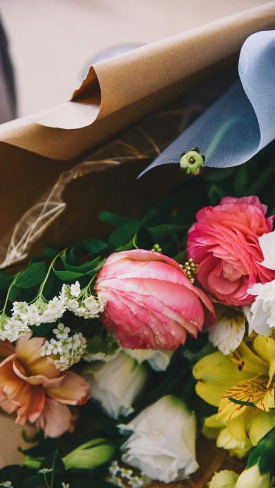 花束 枝葉 包裝 鮮花