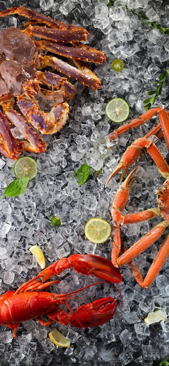 冰塊 食材 海鮮 皇帝蟹 螃蟹 小龍蝦