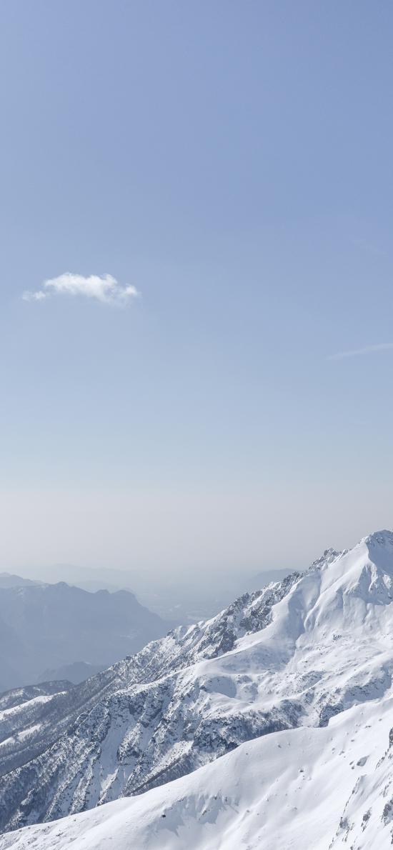 雪山 积雪 天空 山峰