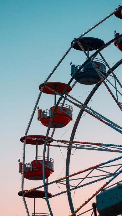 摩天轮 娱乐 游乐场 天空 渐变