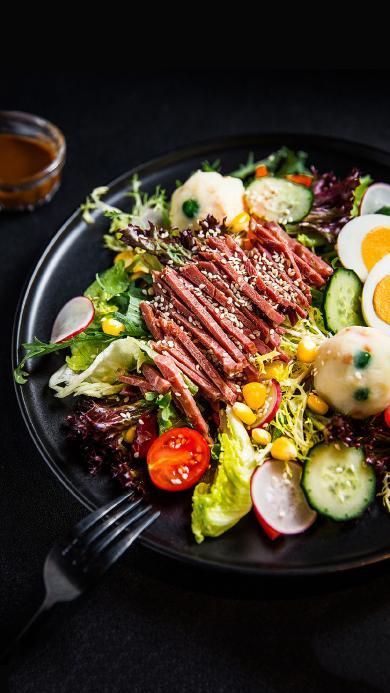 沙拉 牛肉 蔬菜 营养