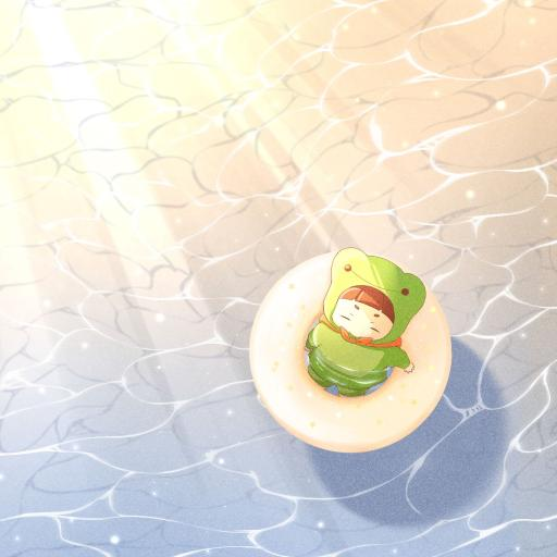 卡通 可爱 青蛙 泳圈