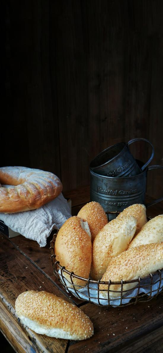面包 食物 芝麻 烘焙