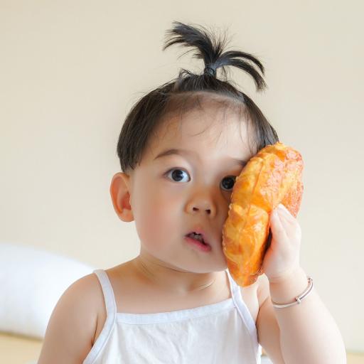李浠晗 小男孩 可爱 儿童 小辫子