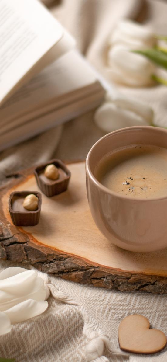 咖啡 鮮花 杯子 飲品